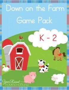 Free Farm Animals Printables - Year Round Homeschooling