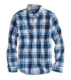 AE Plaid Button Down Shirt