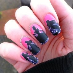 How interesting | Disney Princess Silhouette #nails  #manicure