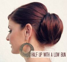 big low chignon- Oh So Chic Bun Style your hair into a classic and very elegant bun. Check it out at Ma Nouvelle Mode.