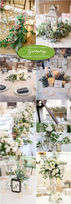 Greenery wedding centerpiece decor ideas