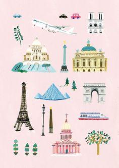 파리지도 - 산업 디자인, 일러스트레이션
