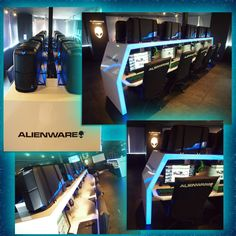 """Café in Fukuoka, Japan. There's space for 20 people to sit and play any game of their choice on brand new Alienware Auroras with NVidia GTX 690s!"""