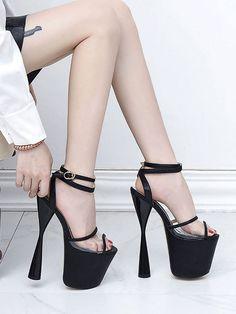 Cheap High Heels, Sexy High Heels, Black Heels, Black Suede, Wrap Heels, Ankle Strap Heels, Pencil Heels, Stripper Shoes, Occasion Shoes