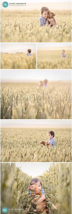Child photo shoot in a wheat field | Vicki Knights Photography