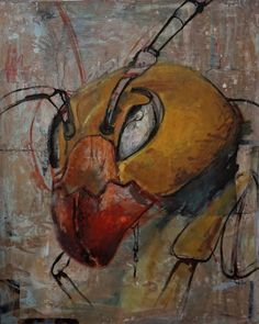 The Sting , painting, Oil and Acrylic, 2015, 100/70 cm #Expressionism