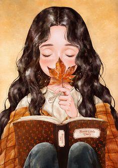 Art And Illustration, Girly Drawings, Fairytale Art, Anime Art Girl, Cartoon Art, Cute Art, Character Art, Book Art, Forest Girl