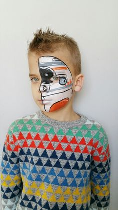 this is a look any boy eould love! facepaint done by fanciful facepainting Face Painting For Boys, Face Painting Tips, Face Painting Designs, Face Paintings, Star Wars Birthday, Star Wars Party, Star Wars Painting, Media Makeup, Star Wars Design