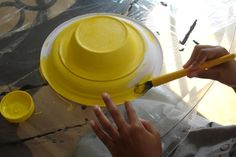 bonnet from a paper plate and bowl.. for the easter bonnet parade