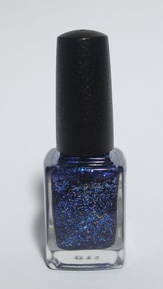 Children Of The Moon - Glitterbomb Indie Nail Polish. Indigo base packed with silver, royal blue and gunmetal grey polish.