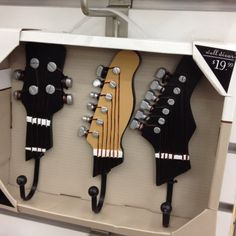 Guitar hooks. From Bed, Bath, and Beyond.
