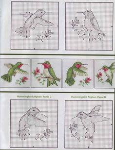 Hummingbird Cross Stitch For Nana, Yes? @Megan Ward Ward Ward McGrath and @Caitlin Burton Burton Burton Kay