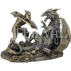 Siegfried Slaying Dragon Statue - WU-1343 by Medieval Collectibles