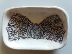 Handmade ceramic butterfly plate by UniqsGoods on Etsy