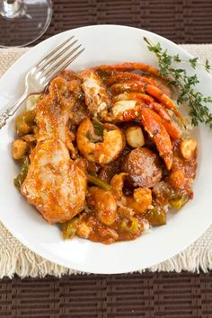 Chicken, Sausage & Seafood Loaded Jambalaya - to make low carb use cauliflower rice instead of white rice.