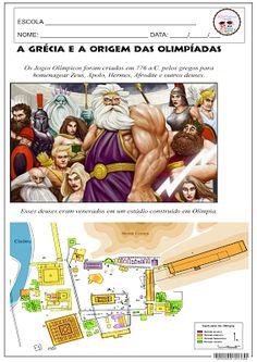 A Grécia e a origem das Olimpíadas. Mitologia grega. Olimpíadas