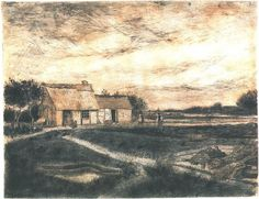 Vincent van Gogh Drawing, Black chalk, pencil, pen heightened with white and gray Etten: April - May, 1881 Museum Boijmans van Beuningen Rotterdam, The Netherlands, Europe