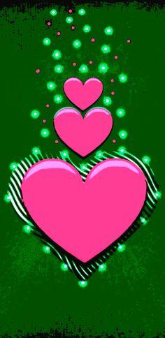 Phone Background Wallpaper, Green Wallpaper, Heart Wallpaper, Love Wallpaper, Wallpaper Backgrounds, Iphone Wallpaper, Wallpapers, Flower Backgrounds, Heart Art