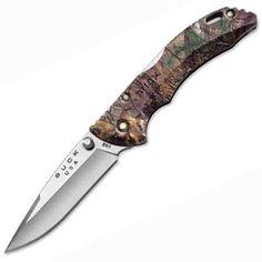 Buck Knives Bantam Plain Single Blade Pocket Knife, Realtree Xtra Camo Handle