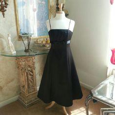 Elegant Little Black Dress.David'S Bridal Size 4/5