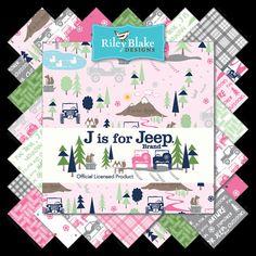 J is for Jeep  - (15) Fat Quarter Fabric Bundle #supplies @EtsyMktgTool http://etsy.me/2rJkXoF