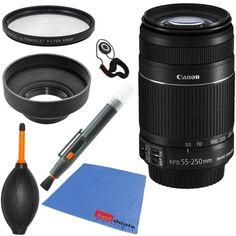 Canon EF-S 55-250mm f/4.0-5.6 IS II Telephoto Zoom Lens (Import) for Canon EOS 7D, 60D, EOS Rebel SL1, T1i, T2i, T3, T3i, T4i, T5i, XS, XSi, XT, & XTi Digital SLR Cameras + 6pc Bundle Accessory Kit - http://www.digitalcameraoptics.com/canon-ef-s-55-250mm-f4-0-5-6-is-ii-telephoto-zoom-lens-import-for-canon-eos-7d-60d-eos-rebel-sl1-t1i-t2i-t3-t3i-t4i-t5i-xs-xsi-xt-xti-digital-slr-cameras-6pc-bundle-accessory-kit/