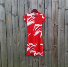 XS S Extra Small Vintage 60s 70s Red and by PinkCheetahVintage
