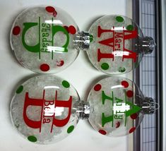 A popular items for me this year...personalized Christmas ornaments.