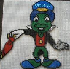 Pinocchio Jiminy Cricket hama perler beads by marmotte88130