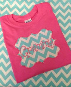 Great for a new GrandMa!! Personalized Grandma Shirt by MamaAndMeMonograms on Etsy, $23.50