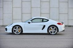 2013 Porsche Cayman S white side profile
