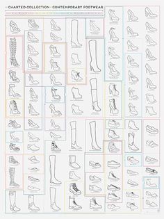 Pop Chart Lab --> Design + Data = Delight --> The Charted Collection of Contemporary Footwear