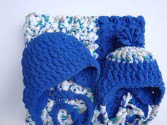Chunky baby hat crochet baby beanie pompom by BloomingRoseCrochet