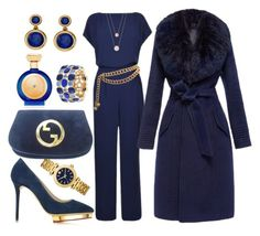 """In the Navy"" by ellenfischerbeauty ❤ liked on Polyvore featuring Diane Von Furstenberg, Monet, Boadicea the Victorious, Charlotte Olympia, Chanel, Allurez, Tory Burch and Michael Kors"