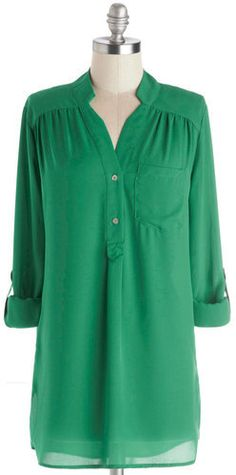 FASHION || Green Tunic