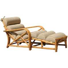 Three Strand Rattan Chaise Lounge by HarveysonBeverly on Etsy, $2700.00