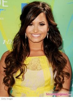 Pictures : Demi Lovato Hairstyles - Demi Lovato Curly Half Up Hairstyle