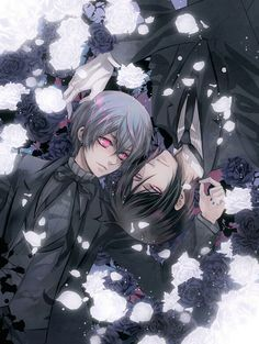 Kuroshitsuji {Black Butler} - Ciel Phantomhive and Sebastian Michaelis Black Butler Sebastian, Black Butler Anime, Black Butler 3, Black Butler Season 3, Manga Anime, Tv Anime, Anime Plus, Manga Art, Anime Art