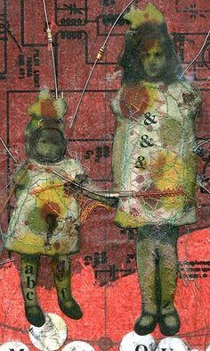 Charlotte Kemsley using collage and machine stitching