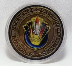 NASA Official Commemorative Coin Metal Flown Space Shuttle Mission Complete G
