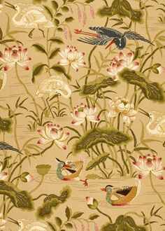 Schumacher Lotus Garden Bamboo wallpaper