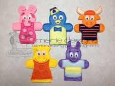 Backyard Friends finger puppets  Set of 5  FREE by designbyjmarie, $18.00