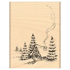 Penny Black Mounted Rubber Stamp Christmas Cottage