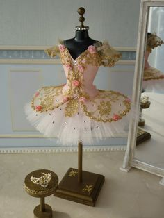 A miniature tutu handmade/ Miniature Ballet Costume/'The Sleeping Beauty' Princess Aurora