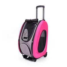 Ibiyaya EVA Pet CarrierWheeled Carrier Hot Pink -- Click image to review more details. This is an Amazon Affiliate links.