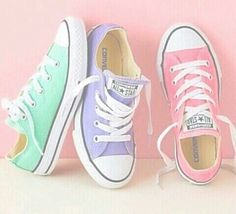 """""""Converse"""" Women Men Fashion Canvas Flats Sneakers Sport Shoes from Love Fashion. Saved to Things I want as gifts. Converse Chucks, Converse Shoes Outfit, Adidas Shoes, Custom Converse, Converse Shoes For Kids, Colored Converse, Converse Girls, Shoes Tennis, Converse Low Tops"""