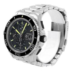 1adf4904af7 20299 Tag Heuer Aquaracer Chronograph Steel Mens Watch CAK2111 Box Card  SwissWatchExpo