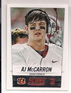 2014 Score AJ McCarron Rookie Card # 331 ***Bengals*** #CincinnatiBengals