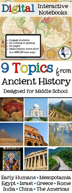 Ancient History Digital Interactive Notebook for Google Drive Bundle