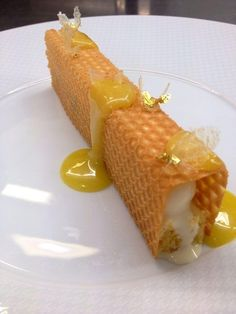 End your meal on a sweet note with Chef Pâtissier François Perret's new dessert at L'Abeille, Shangri-La Hotel, #Paris.